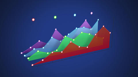 Line graphs with colourful segments Animation