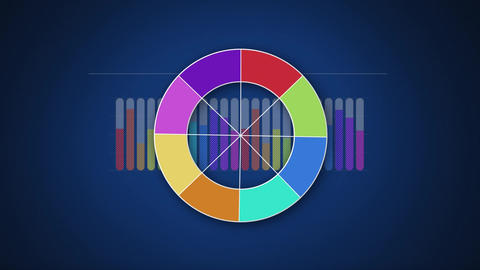 Wheel with different colours Animation