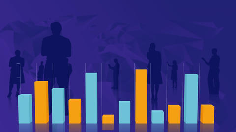 Bar graphs with silhouettes Animation