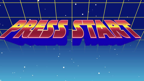Press Start sign Animation