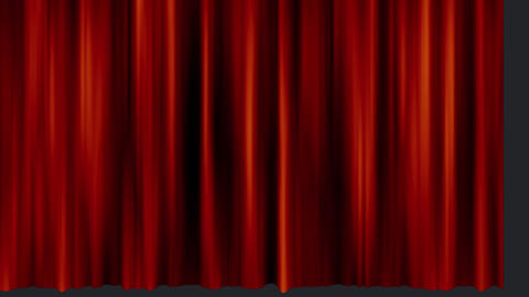Fin sign and a curtain Animation