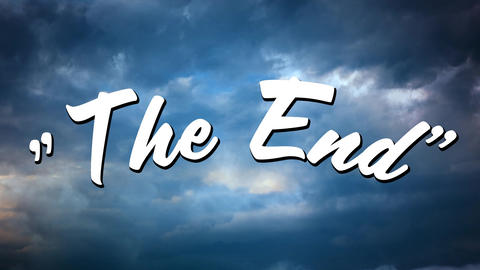 The end message for a movie ending Animation