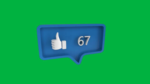 Like icon with increasing numbers for social media Animation
