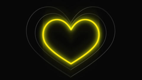 Led light sign of a beating heart Animation