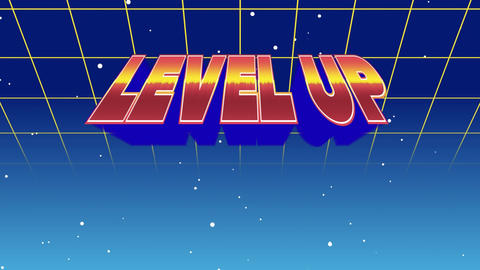 Level up message from an arcade game Animation