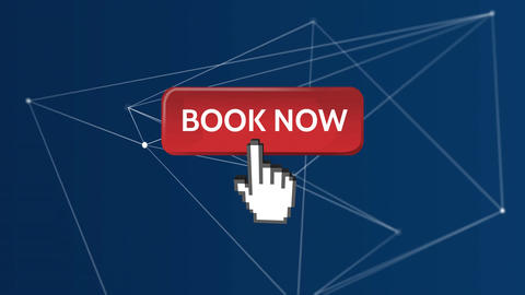 Book Now button and asymmetrical lines Animation