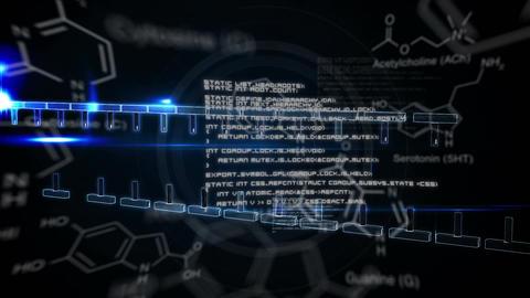 Illustration of DNA helix assembling Animation