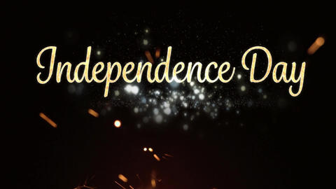 Independence day fireworks Animation