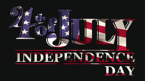 4th of July text and Independence Day text Animation