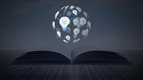 Light bulbs and a book Animation