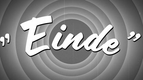 Einde sign and circle patterns Animation