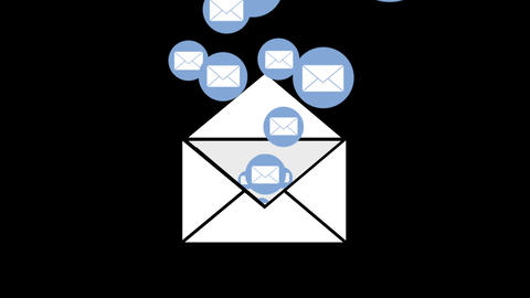 Message envelope icons 4k Animation