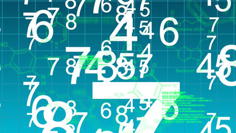 Text, numbers and digital data are displayed Animation