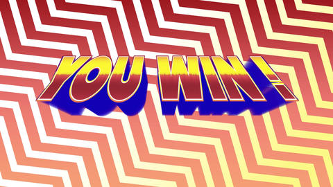 You win text in bold letters Animation