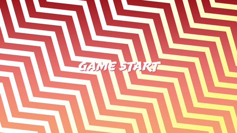 Game start sign on an arcade game Animation