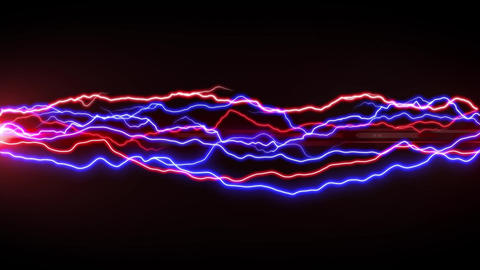 Red and blue lightning Animation