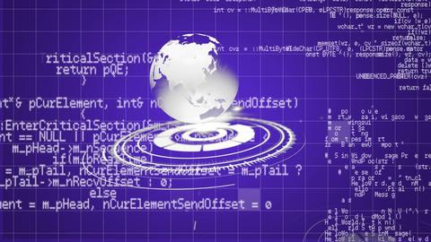 Globe and program codes Animation