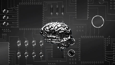 Brain and digital circuit, Stock Animation