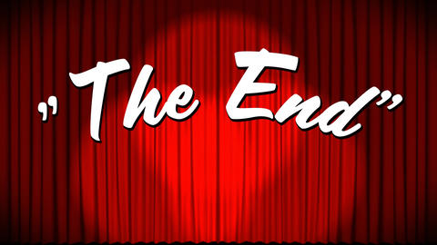 The end sign for a movie Animation