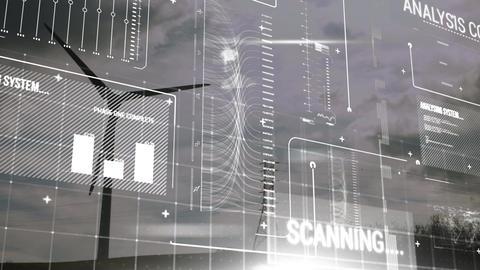 Wind turbine and digital interface Animation