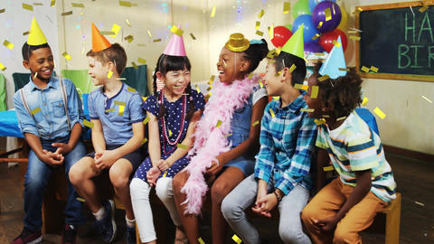 Children at a party Animation