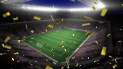 Filled stadium and confetti Animation