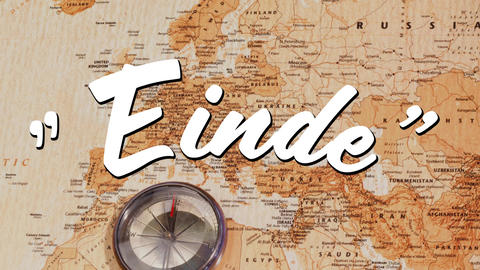 Einde sign and a world map Animation