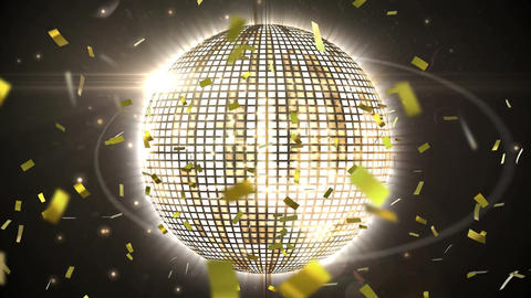 Disco ball and confetti Animation