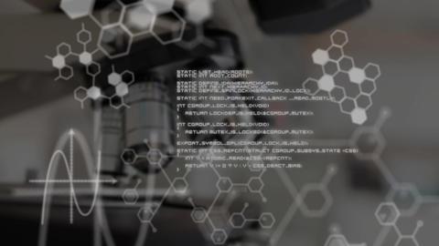 Scientific data and microscope Animation