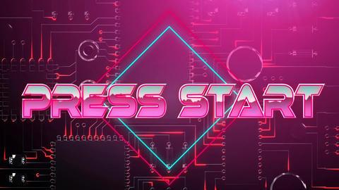 Press start pink game screen Animation