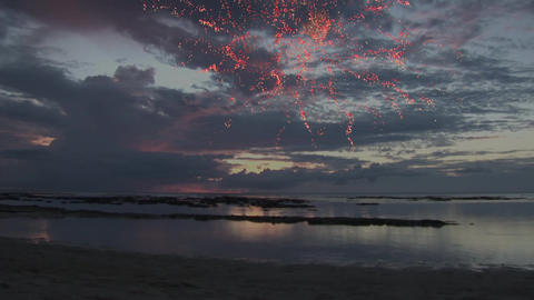 Fireworks at the beach Animation