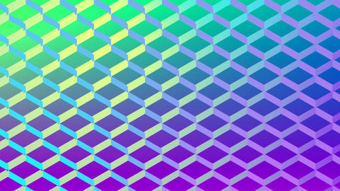 Colourful mesh pattern changing colour over green background Animation