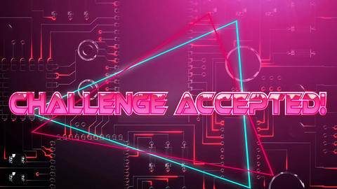 Challenge accepted pink game screen Animation