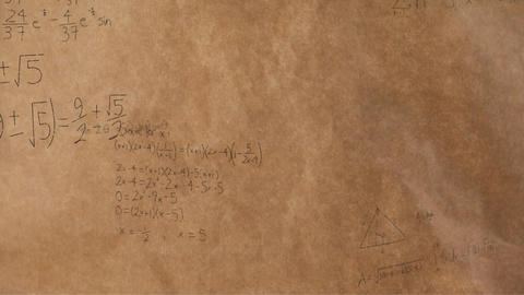 Mathematical equations and figures 4k Animation