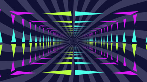 Neon lit moving tunnel Animation