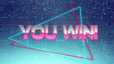 You win! game screen Animation