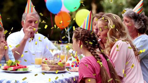 Family celebrating Animation