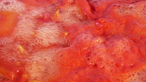 Cooking tomato paste Footage