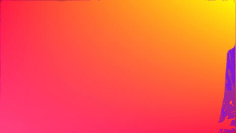Pink paint on orange and pink background Animation