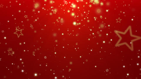 Abstract gold bokeh and snowflake falling. Happy New Year and Merry Christmas shiny background Animation