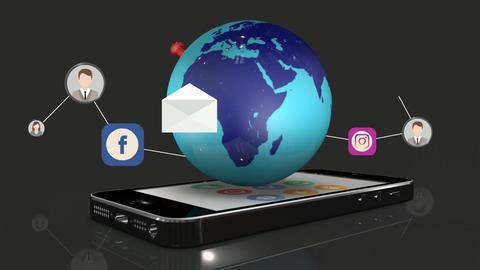 Social Network - Smartphone CG動画
