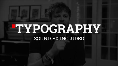 Typography Motion Graphics Template
