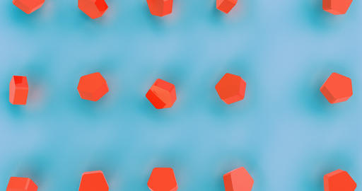 Abstract on blue backdrop. Red abstract texture. Geometric background. Freedom Live Action