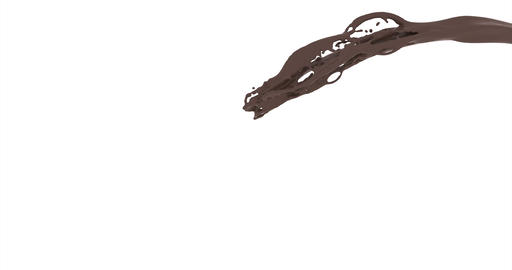Jet chocolate on dark background. Design elements. Isolated white background Live Action