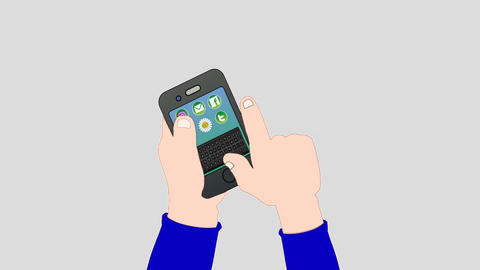 Mobile phone Animation