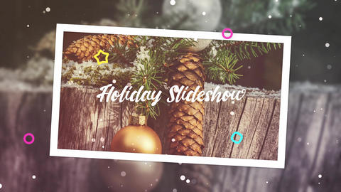 Holiday Photo Slideshow After Effects Template