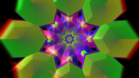 Hypnotic psychedelic colorgul tunnel kaleidoscope pattern. Colorful Animation