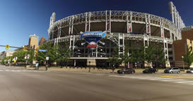 Driving Past Progressive Field in Cleveland, Ohio Footage