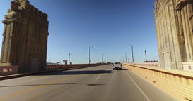 Driving Over Hope Memorial Bridge in Cleveland Ohio Footage