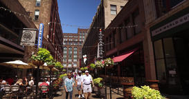 Walking Perspective on East 4th Street in Cleveland Ohio Footage